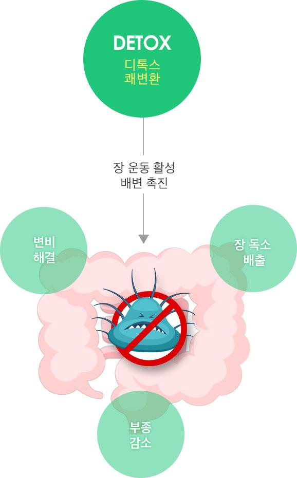 디톡스쾌변환, 변비해결, 장 독소 배출, 부종감소