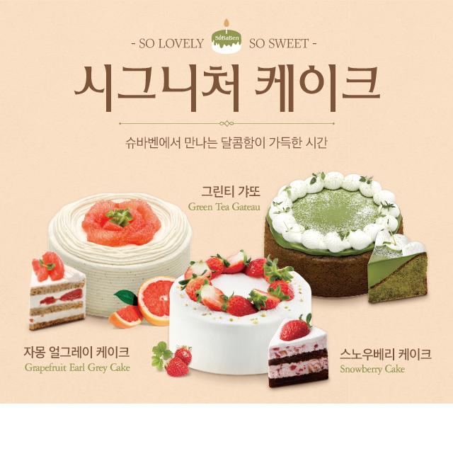 시그니처 케이크 3종